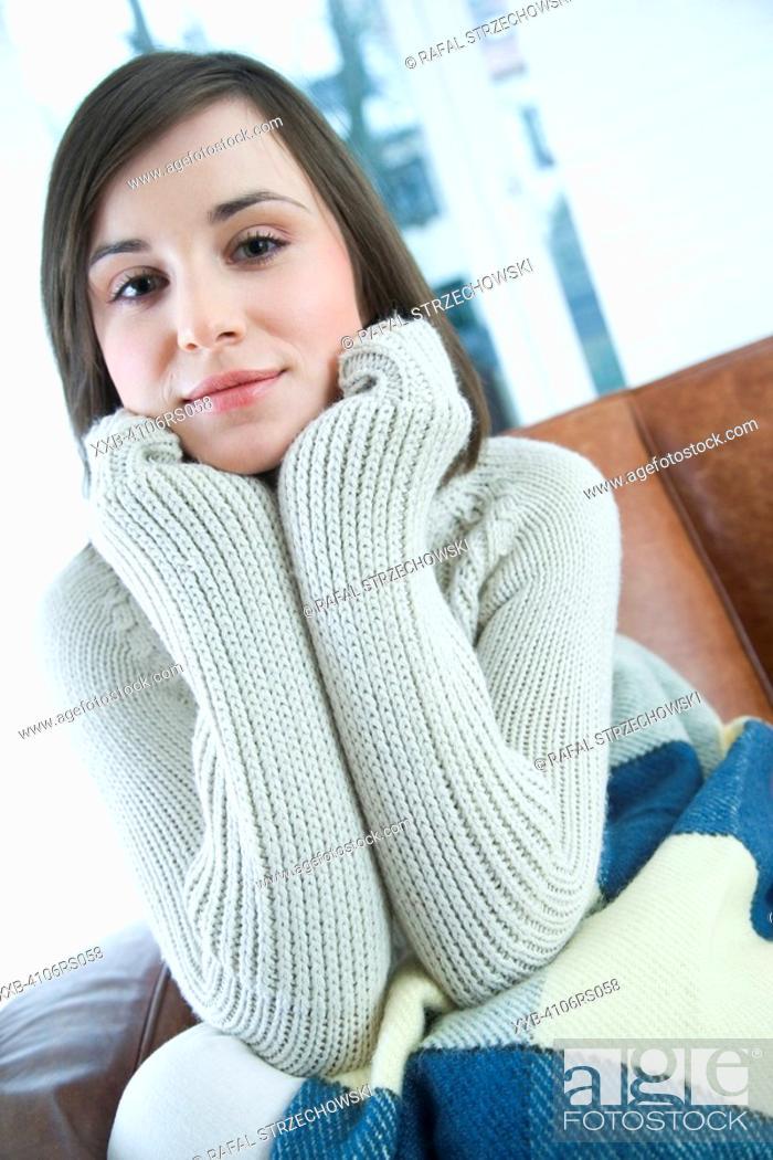 Stock Photo: sad young woman.