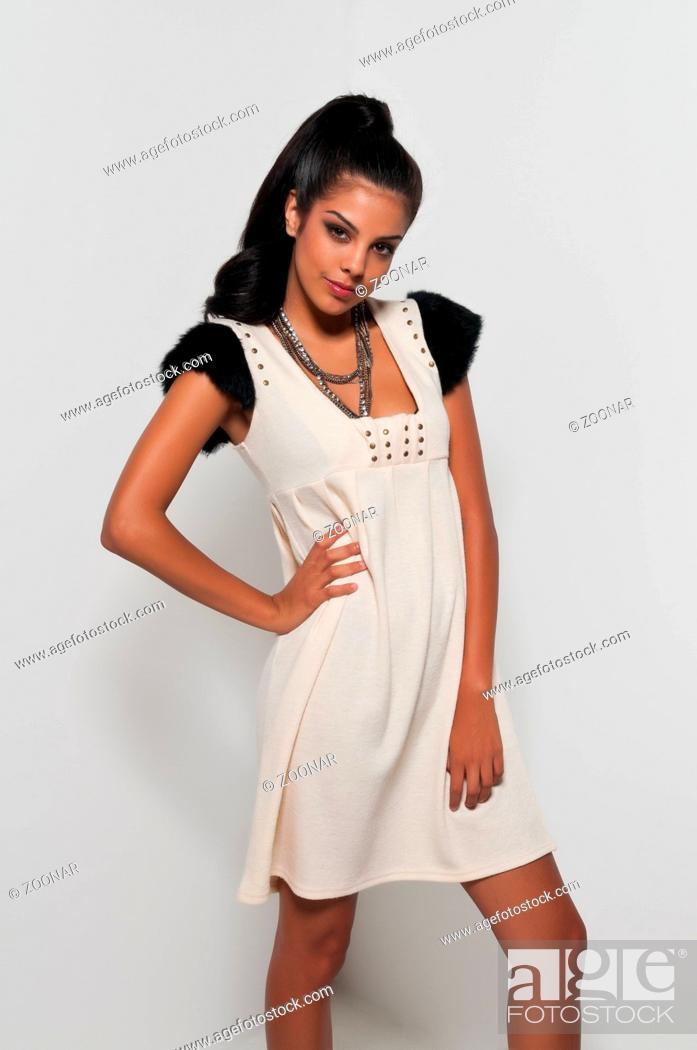 Stock Photo: White dress.