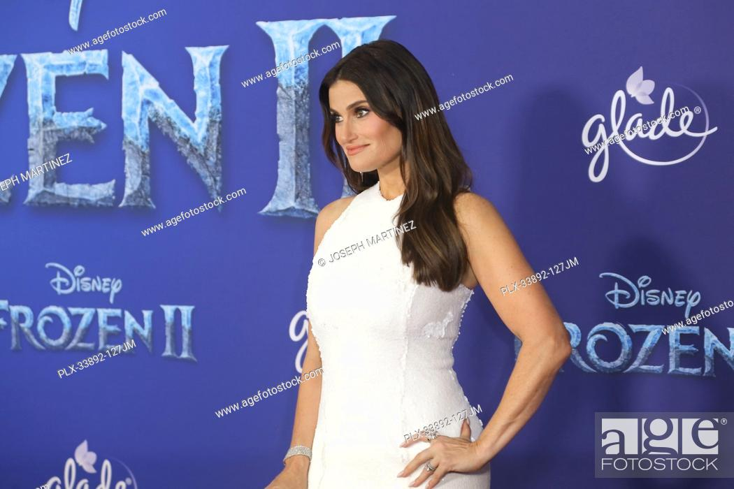 """Stock Photo: Idina Menzel at Disney's """"""""Frozen II"""""""" World Premiere held at the Dolby Theatre in Hollywood, CA, November 7, 2019. Photo Credit: Joseph Martinez / PictureLux."""