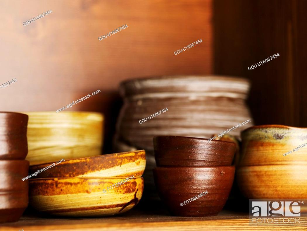 Stock Photo: house item, ceramic cup, tea, beverage, drink, tea-things.