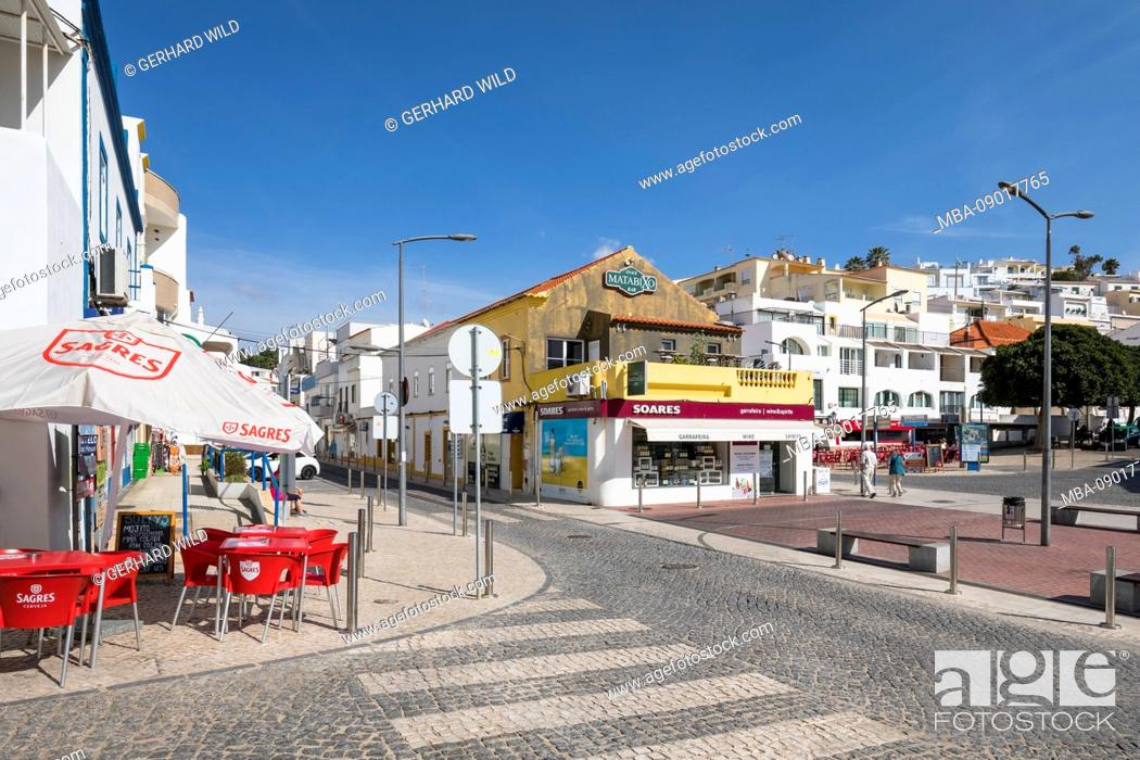 Stock Photo: Center of Carvoeiro, Algarve, Faro district, Portugal.