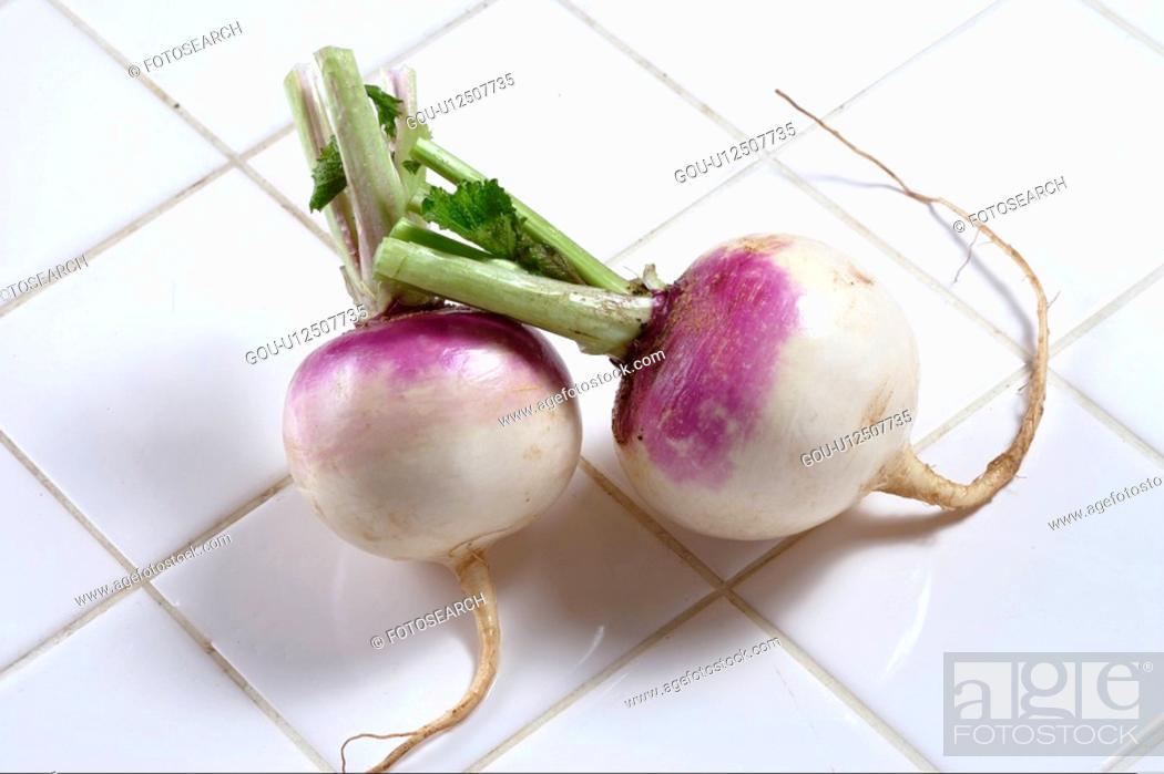 Stock Photo: Purple Turnip.