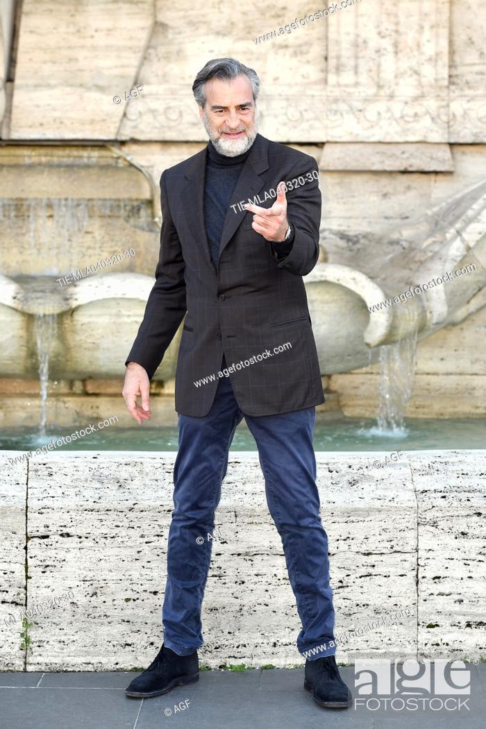 Stock Photo: Max Tortora during 'La volta buona' film photocall, Rome, 04/03/2020.