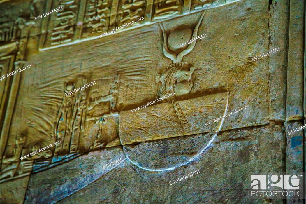 Imagen: hieroglyphs and drawings in the temple of Hatshepsut in Egypt.