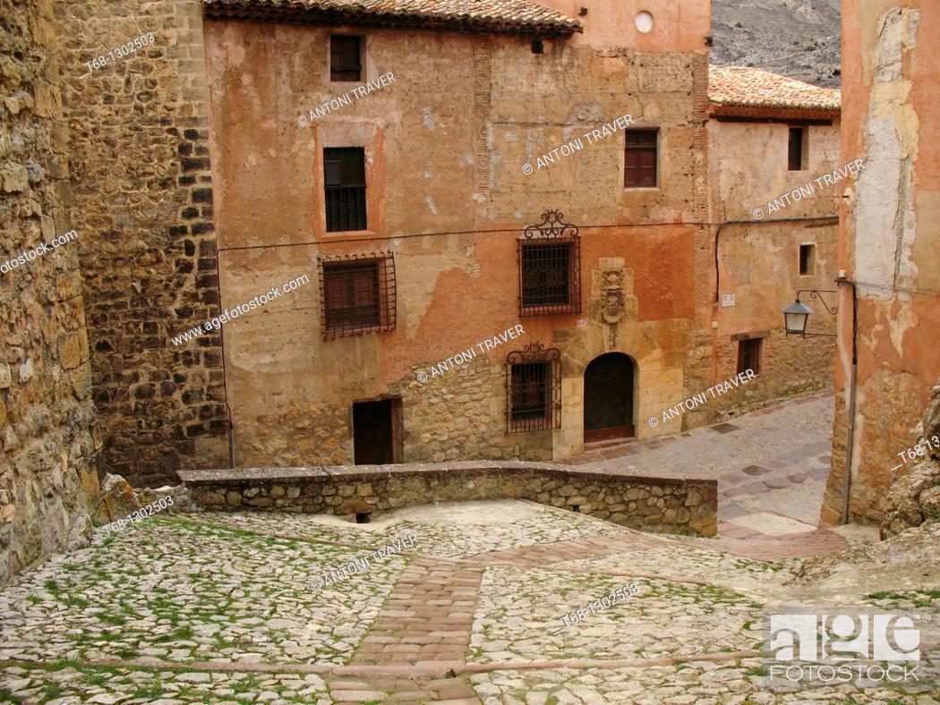 Stock Photo: Albarracin, Teruel province, Aragon, Spain.