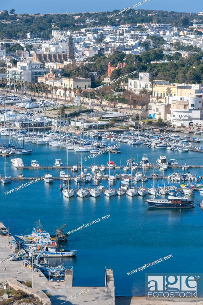 Stock Photo: view on Santa Maria di Leuca marina, Province of Lecce, Salento, Puglia, Italy.