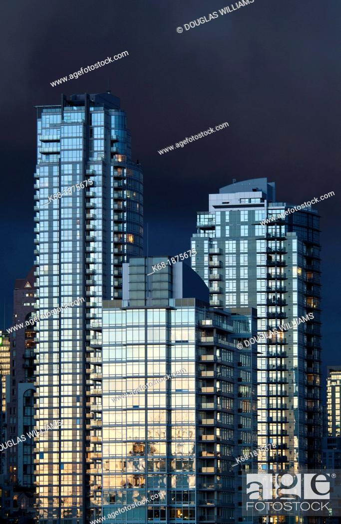Stock Photo Apartment Buildings In Downtown Vancouver On The North S Of False Creek Bc Canada