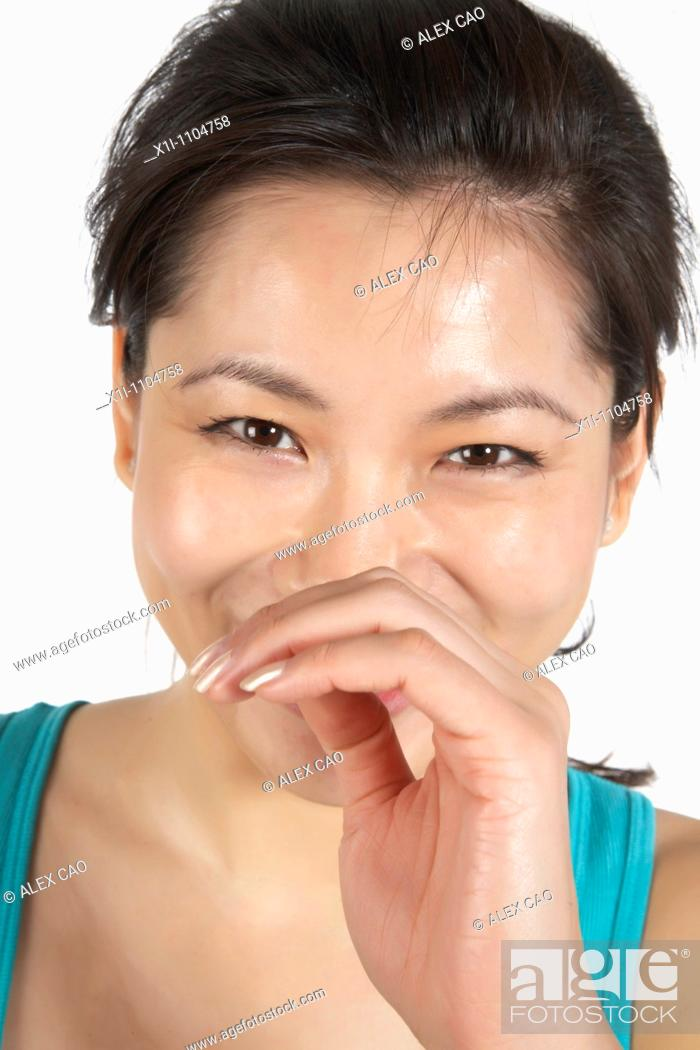 Stock Photo: Happy asian woman.
