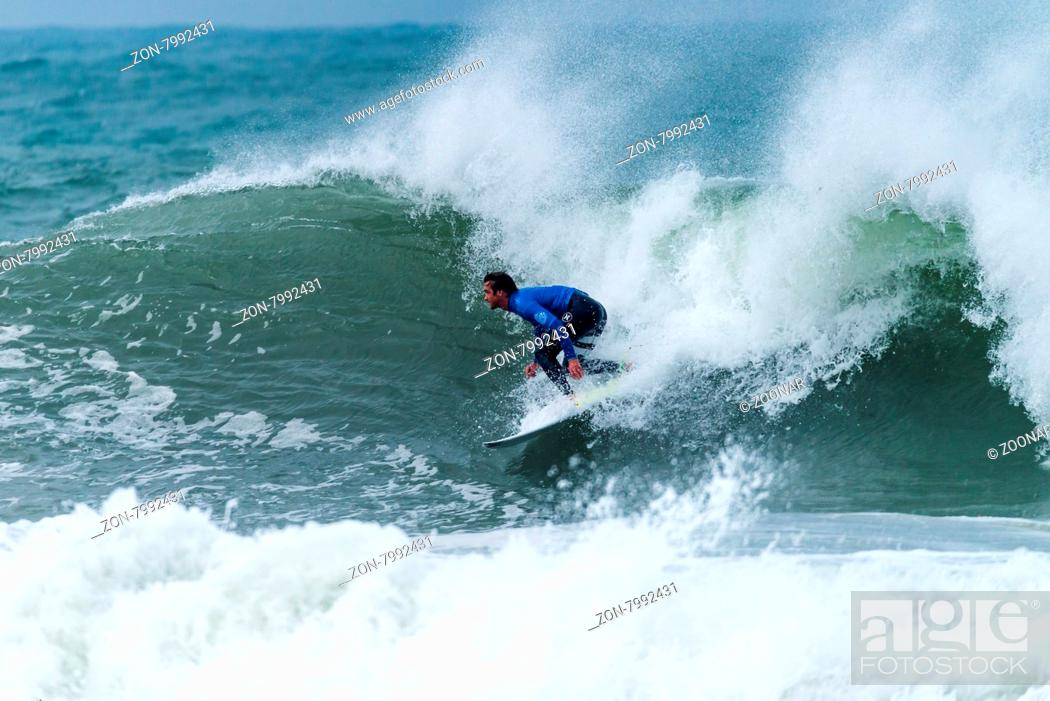 Stock Photo: PENICHE, PORTUGAL - OCTOBER 30, 2015: Brett Simpson (USA) during the Moche Rip Curl Pro Portugal, Men's Samsung Galaxy Championship Tour #10.