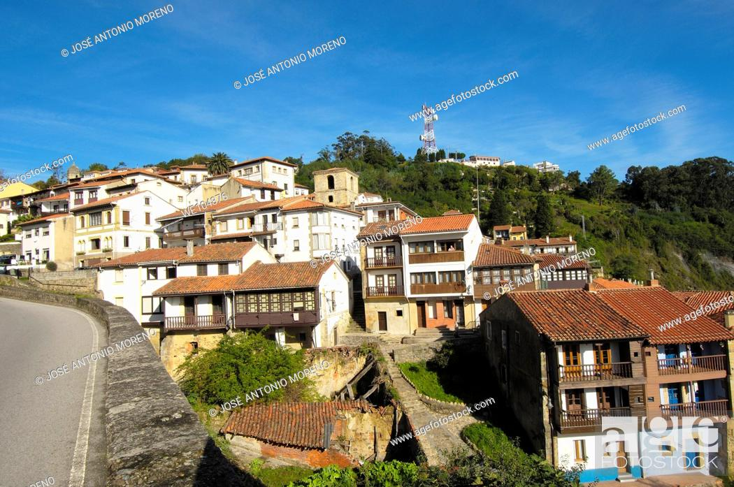 Stock Photo: Lastres, Colunga, Asturias, Spain.