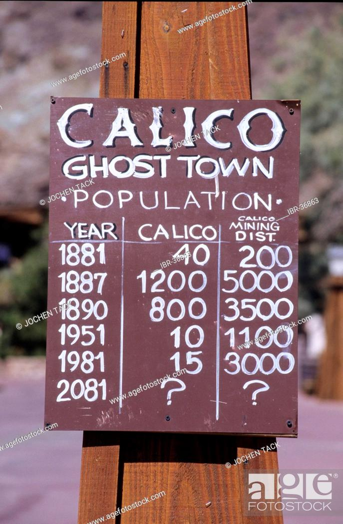 Stock Photo: USA, United States of America, California: the Ghost Town Calico.