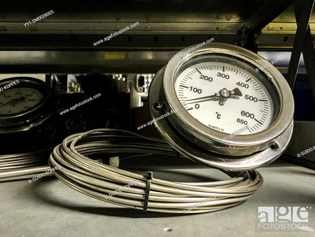 Stock Photo: Moerkapelle, Netherlands. Pressure Gauger and Meter aimed at use in Steam Boilers.