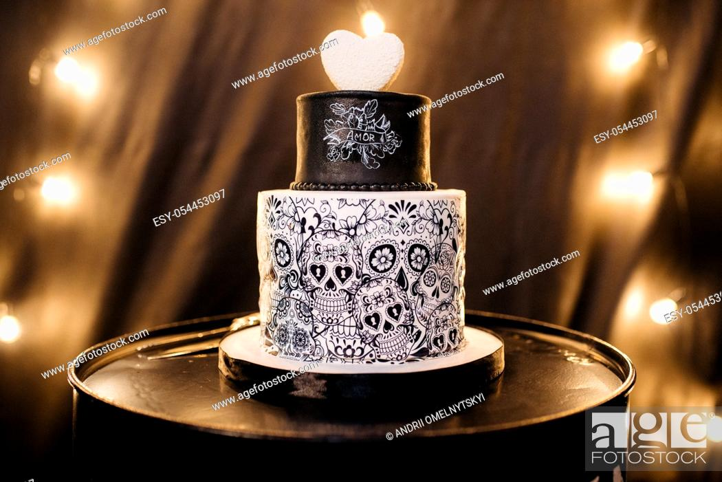 Imagen: wedding cake at the wedding of the newlyweds.