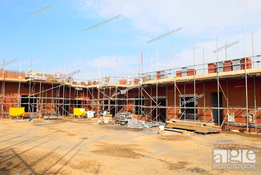 Stock Photo: New housing development under construction.