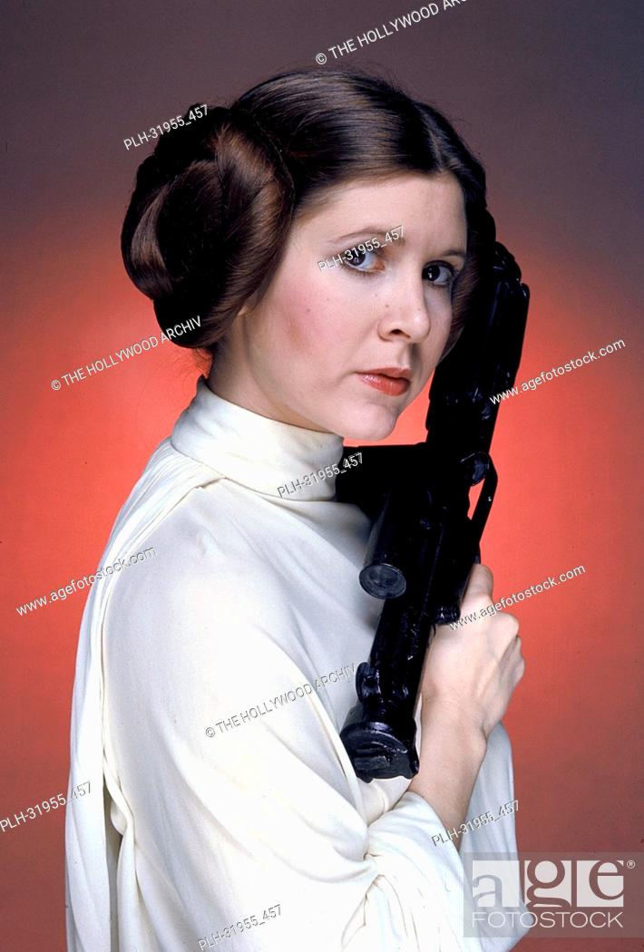 """Stock Photo: Carrie Fisher in """"""""Star Wars"""""""" 1977 20th Century Fox."""