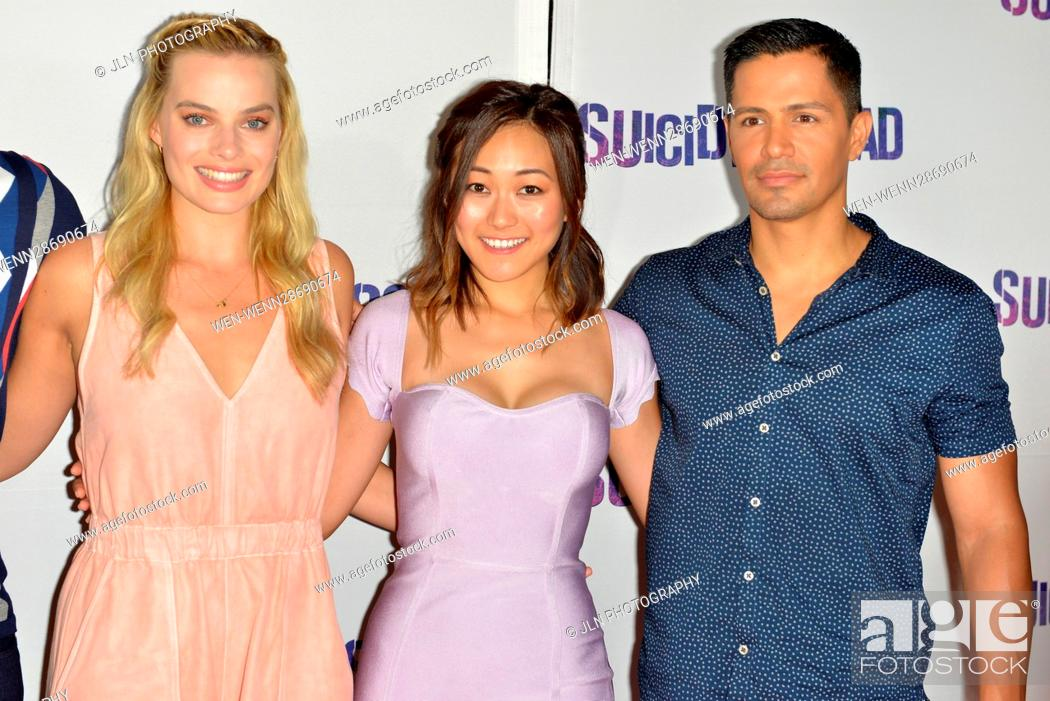 Stock Photo: 'Suicide Squad' Wynwood Block Party and Mural Reveal in Miami, Florida Featuring: Margot Robbie, Karen Fukuhara, Jay Hernandez Where: Miami, Florida.
