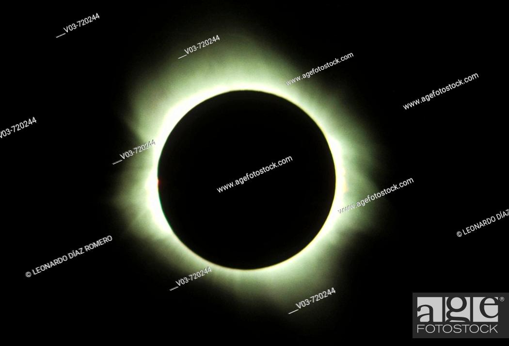 Stock Photo: Solar eclipse, July 11th 1991.