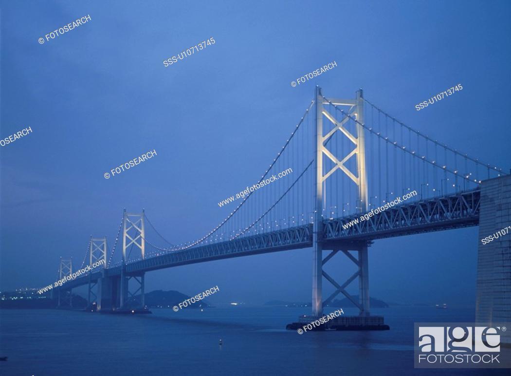 Stock Photo: Seto Large Bridge.