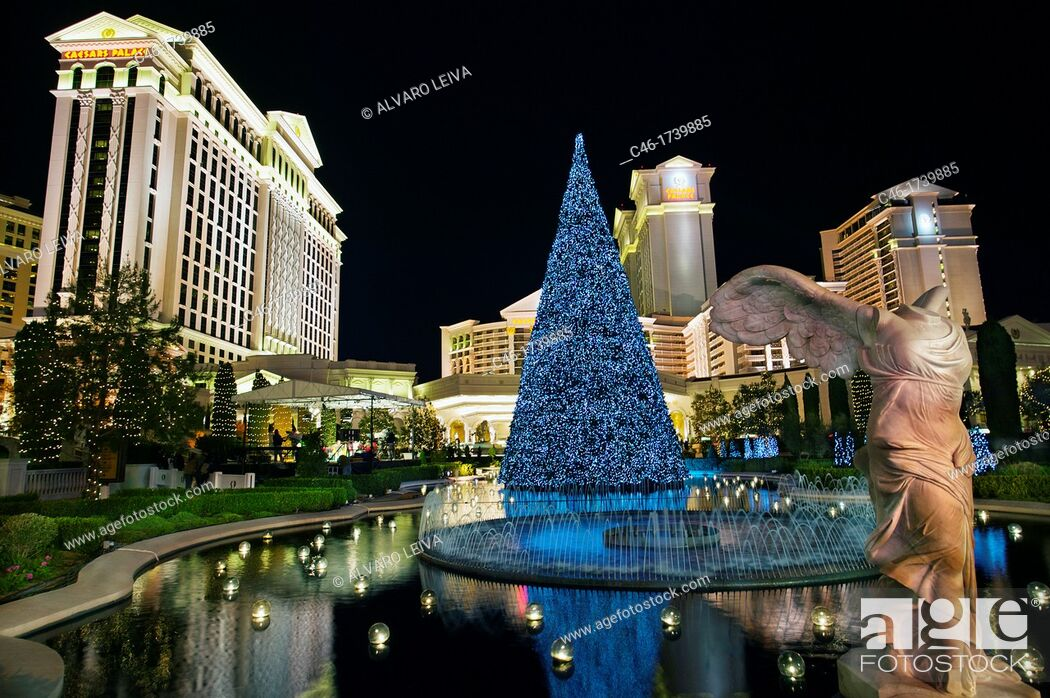 Stock Photo: Las Vegas Boulevard, The Strip, Las Vegas, Nevada, USA.