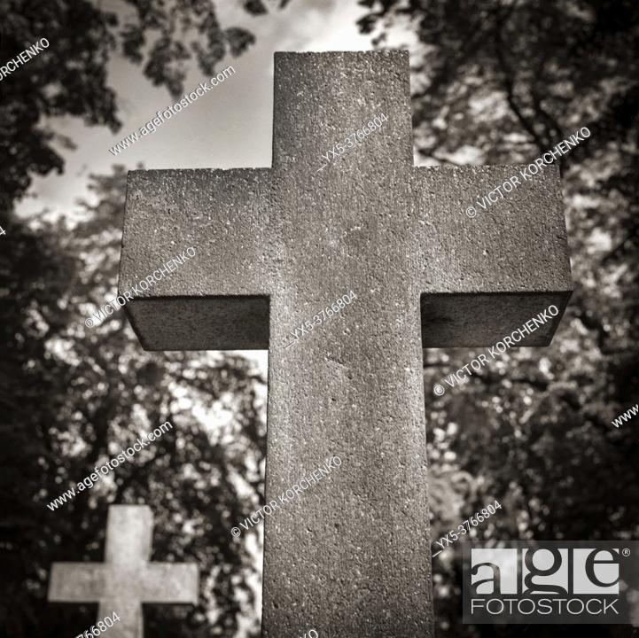 Imagen: Brompton cemetery crosses.