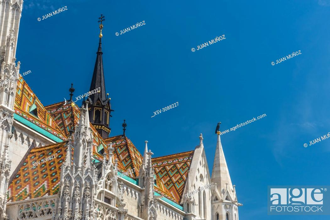 Stock Photo: Matthias Church. Budapest Hungary.