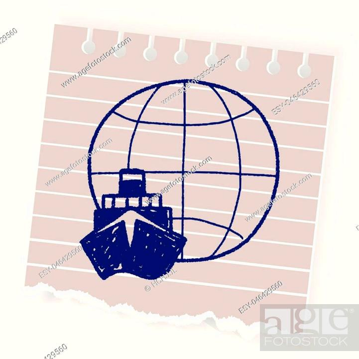 Vector: shipping doodle.