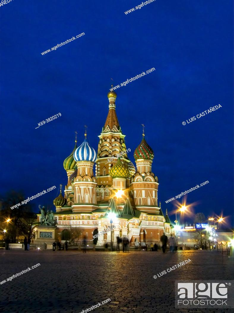 Stock Photo: St. Basil's Cathedral. The Red Square. Moscow. Russia.