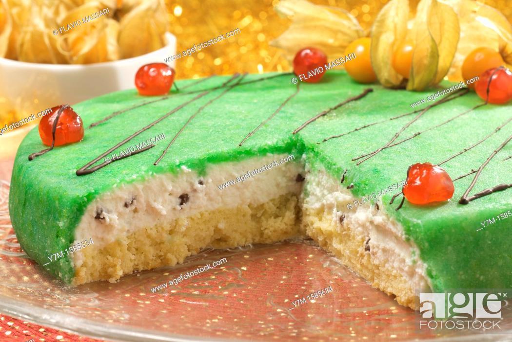 Stock Photo: sicilian cassata cake.