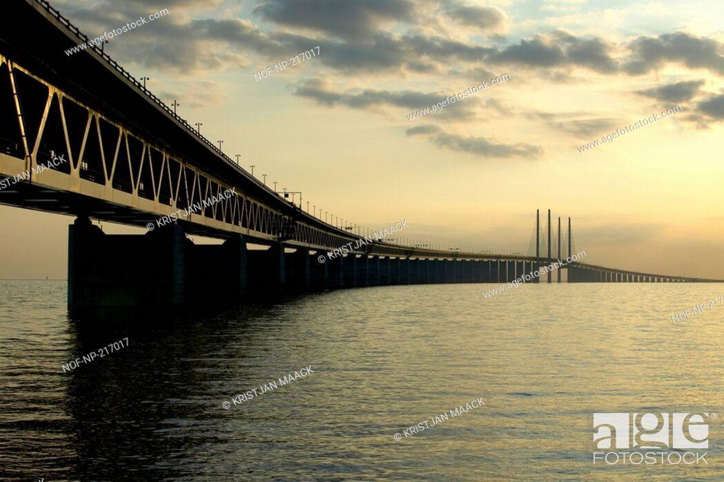 Stock Photo: The Oresund Bridge.