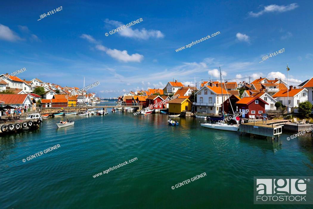 Townscape Gullholmen Gullholmen Island Orust Vastra Gotaland Province Bohuslan Sweden Stock Photo Picture And Rights Managed Image Pic Ibr 4161407 Agefotostock