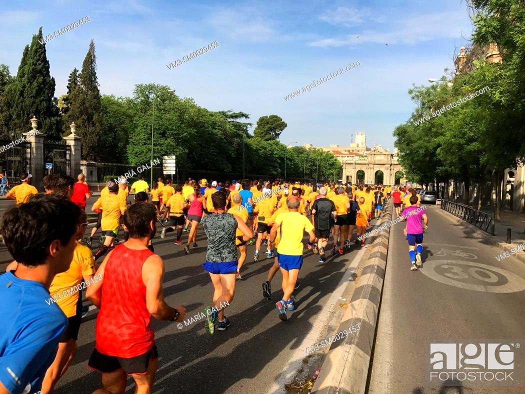 Stock Photo: Marathon race. Madrid, Spain.