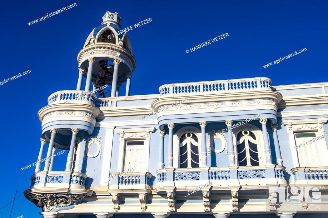 Stock Photo: Palacio Ferrer, Jose Marti Square, Cienfuegos, Republic of Cuba, Caribbean, Central America.