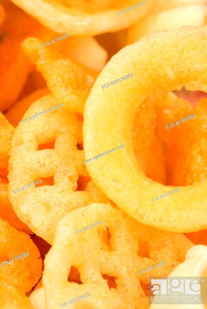 Stock Photo: Assorted snacks.
