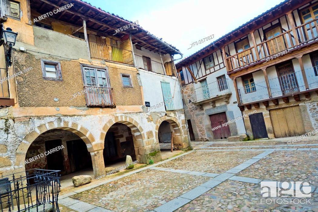 Imagen: Traditional Architecture, Medieval Town, Historic Artistic Grouping, Sequeros, Salamanca, Castilla y León, Spain, Europe.