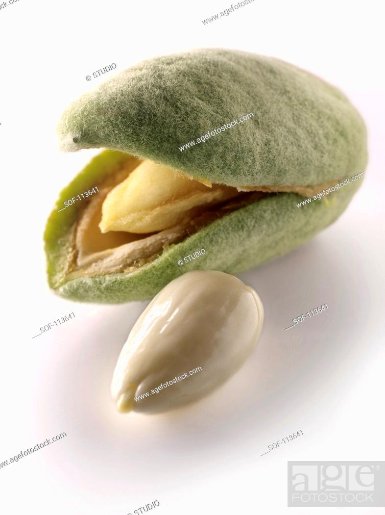 Stock Photo: Fresh almonds.