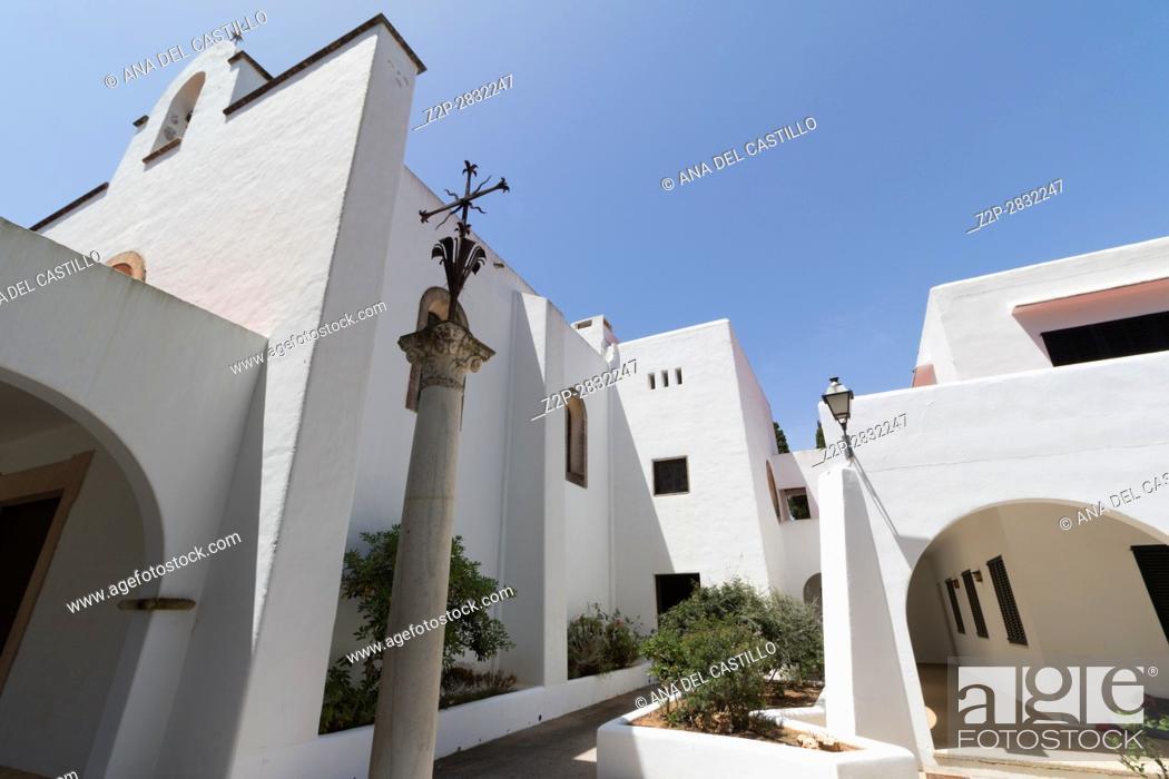 Stock Photo: Church in Cala Dor Majorca island Balearics Spain.