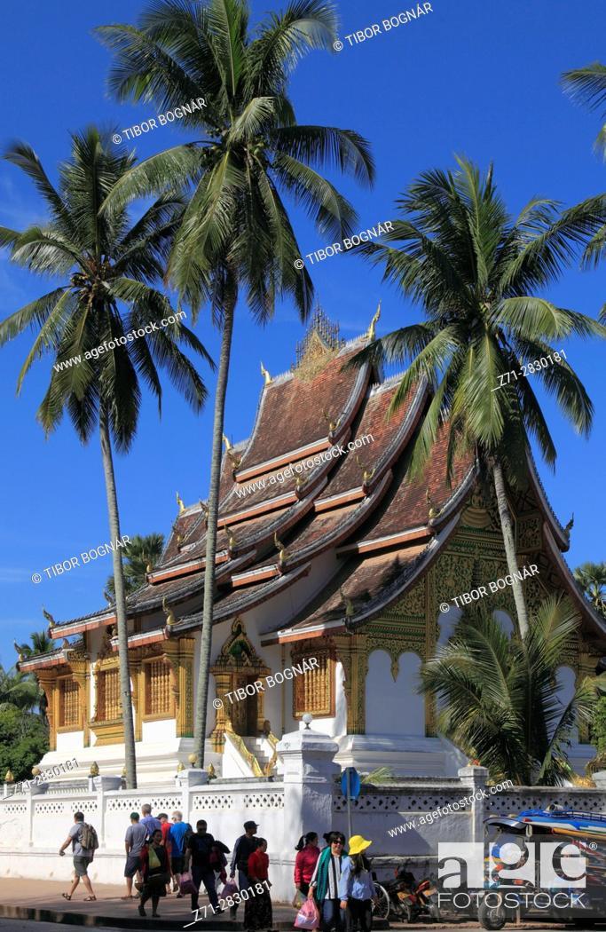 Stock Photo: Laos; Luang Prabang; Haw Pha Bang, Royal Temple,.