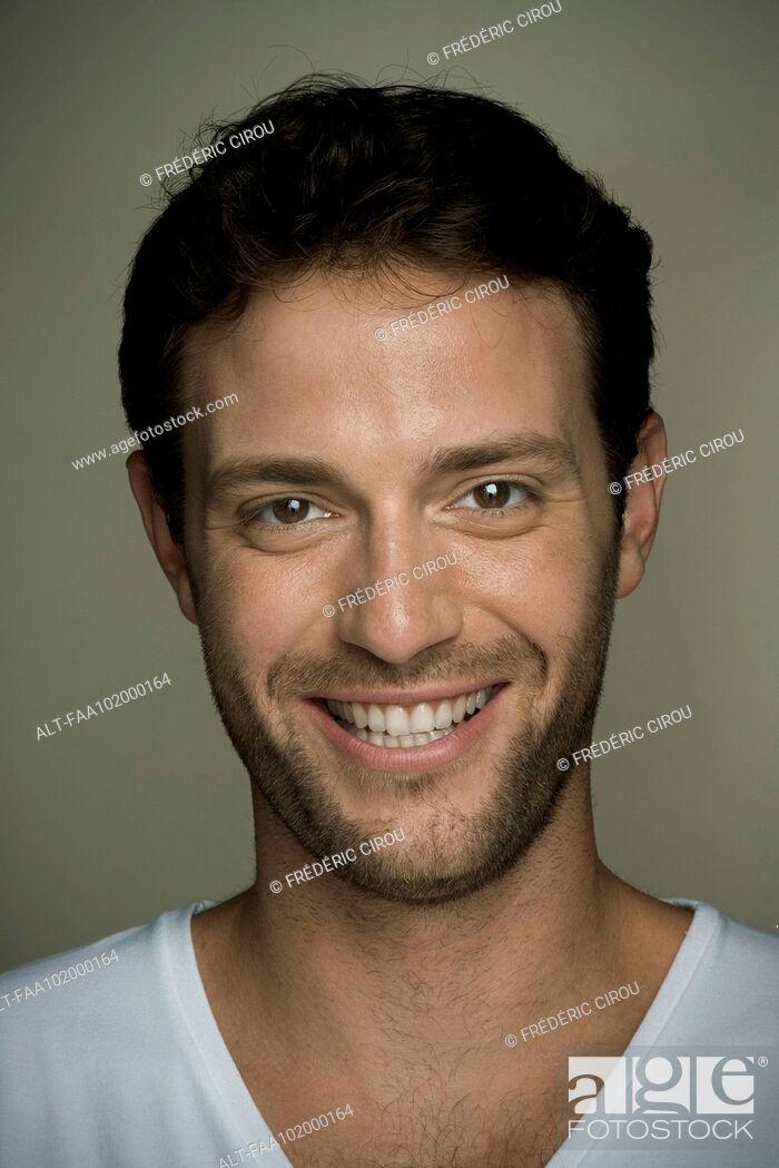 Stock Photo: Young man, portrait.