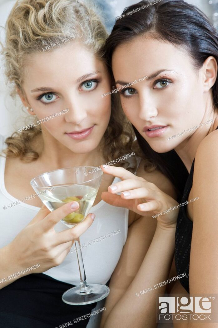 Stock Photo: portrait of two girls.