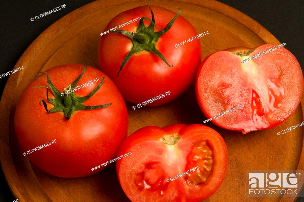 Stock Photo: Close-up of tomatoes.