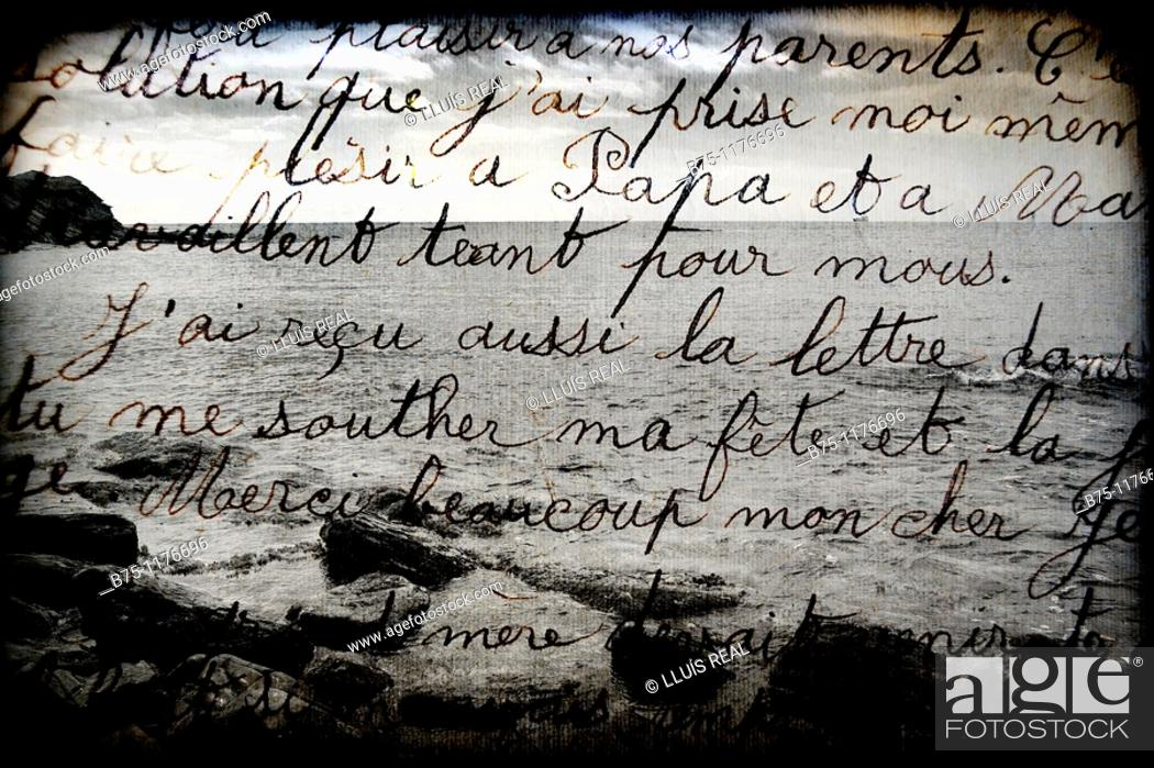 Stock Photo: Letter, seascape.