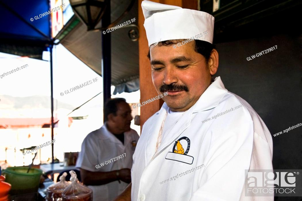 Stock Photo: Close-up of a chef, Morelia, Michoacan State, Mexico.