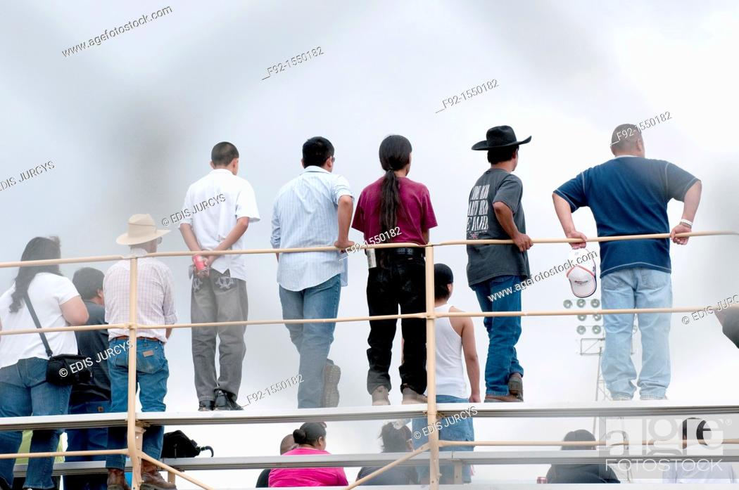 Stock Photo: People watching rodeo.