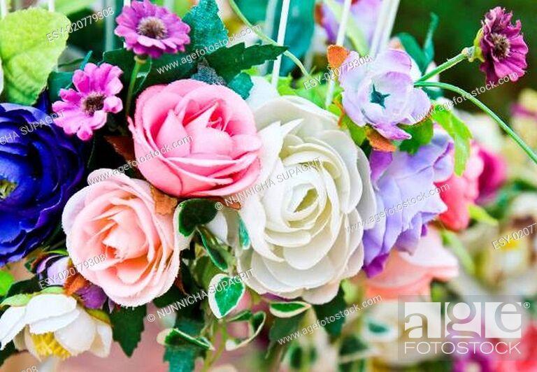 Stock Photo: Decoration artificial flower.