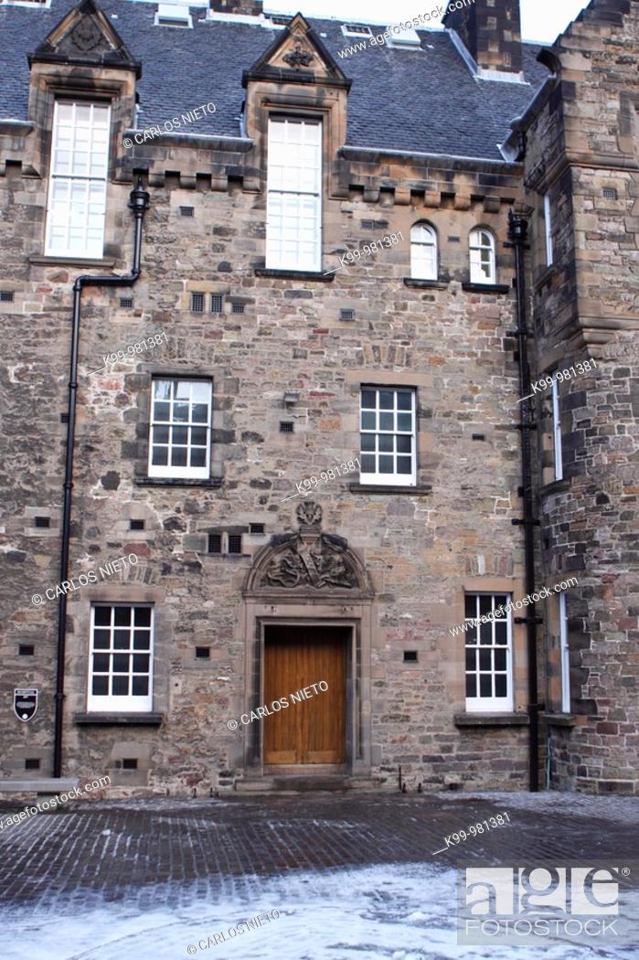 Stock Photo: En el Castillo de Edimburgo, Escocia - UK.