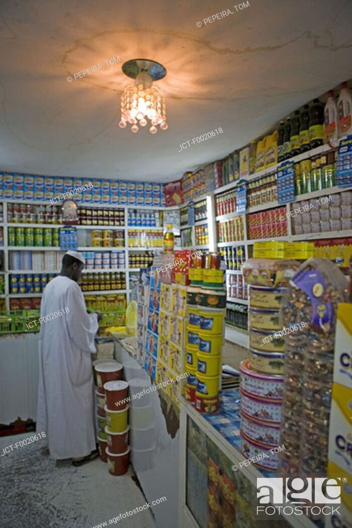Stock Photo: Sudan, Bayuda desert, Dongola, local grocery.