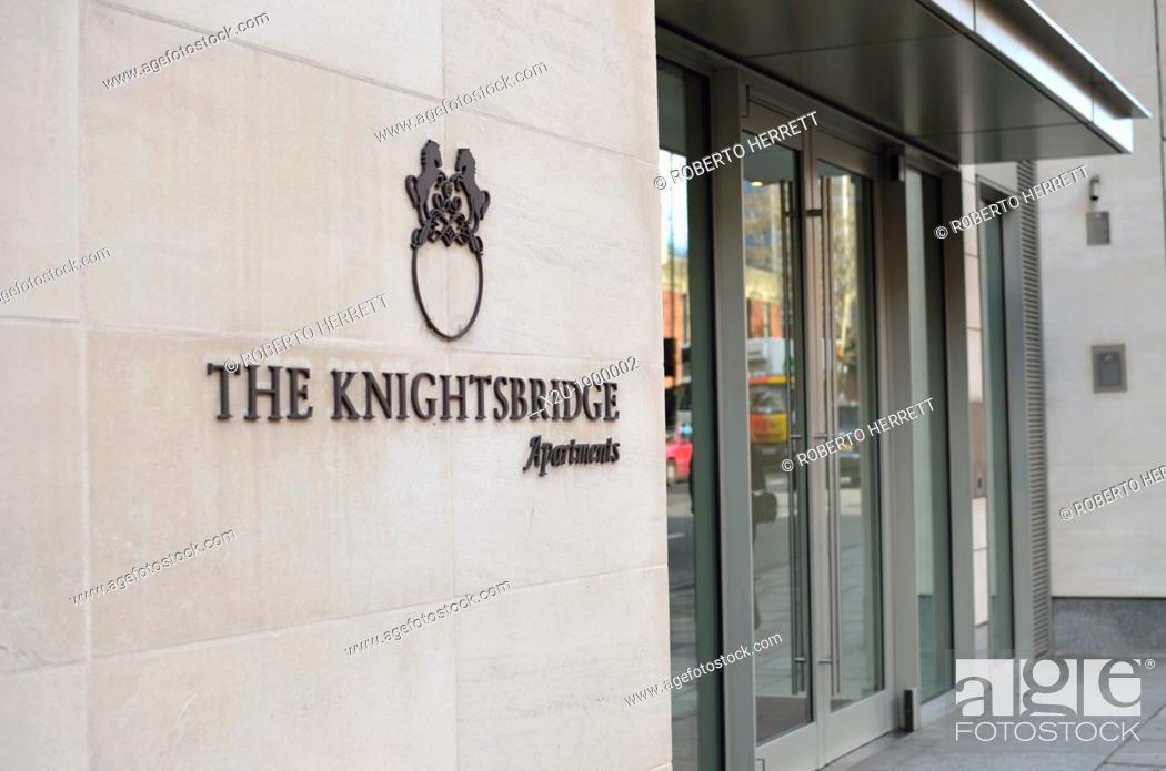 Stock Photo The Knightsbridge Apartments London Uk