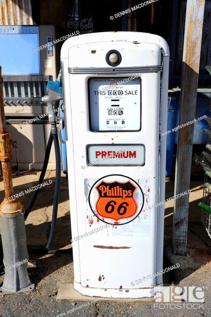 Old Gas Pumps Hackberry General Store Route 66 Arizona, Stock Photo