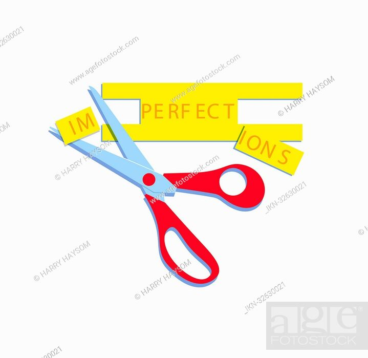 Imagen: Scissors changing imperfections to perfect.