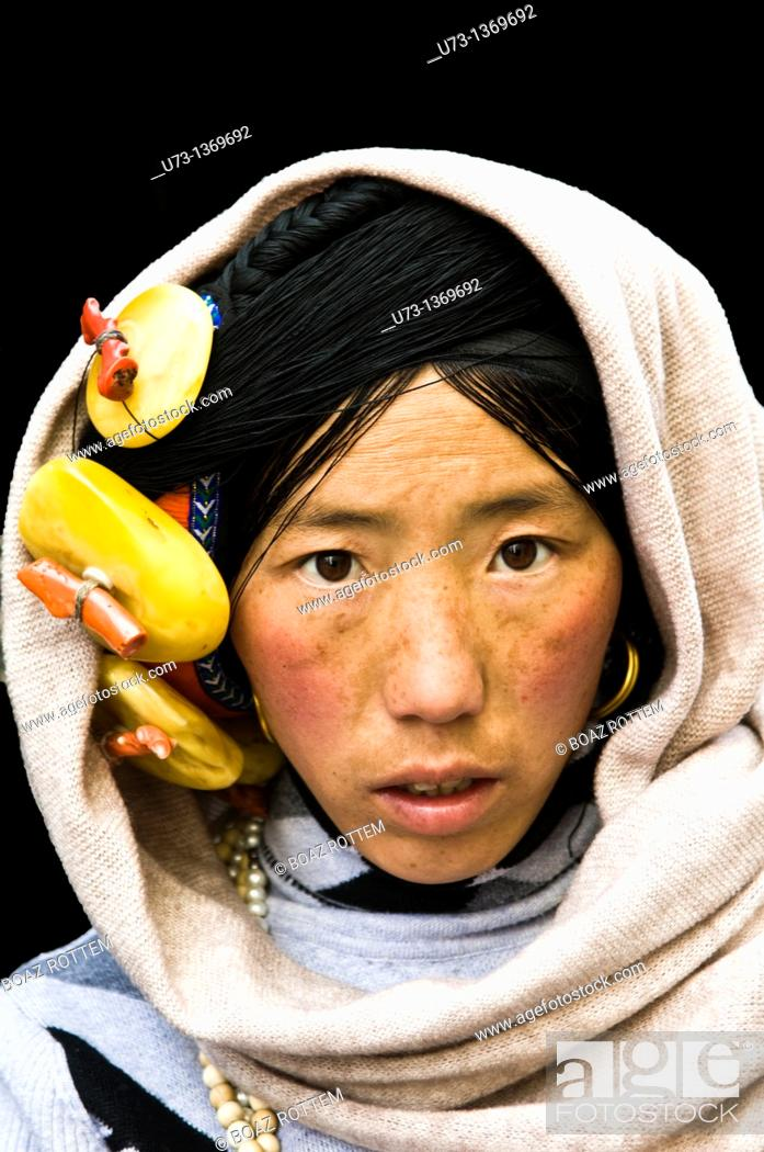 Stock Photo: Faces of Tibet.